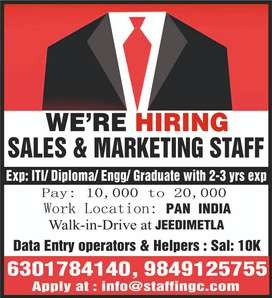 wanted sales markerting boys