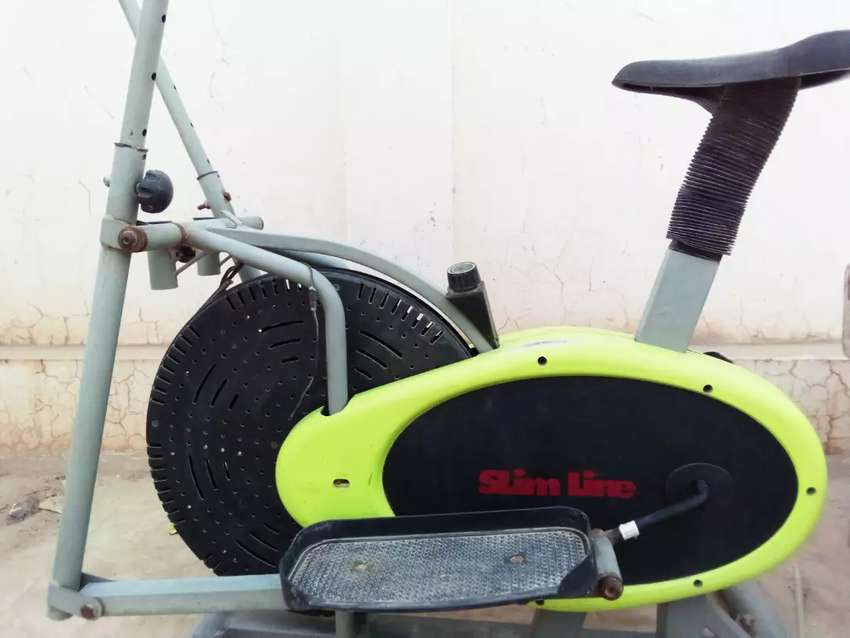 Slim line exercise cycle