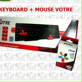 Paket hemat free ongkir keyboard votre dan mouse free ongkir