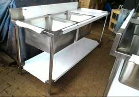 Meja Sink Stainless Murah, Tapi Kurang Kuat, Pesan Sink Revon Saja