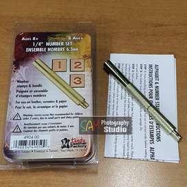 Pembuat Angka Kulit Leather Number Stamping Kit