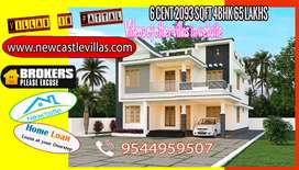 NewCastle Villas-House for sale Pattal Perumbavoor 6cent 2090sqft 4bhk