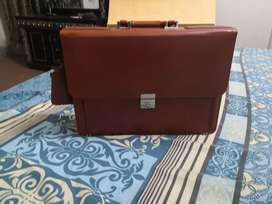 Professional Leather Messenger and Laptop Bag