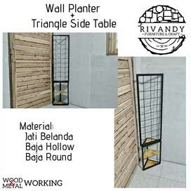 Wall Planter + Triangle Side Table