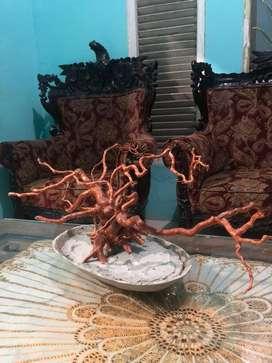Hiasan Meja Pot Akar Pohon