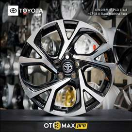 Velg Mobil Toyota CHR Ring 18 Black Machine Face