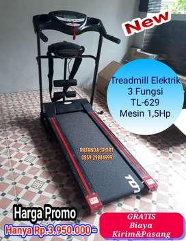 Treadmill Elektrik 3 Fungsi TL-629 Harga Super Murah