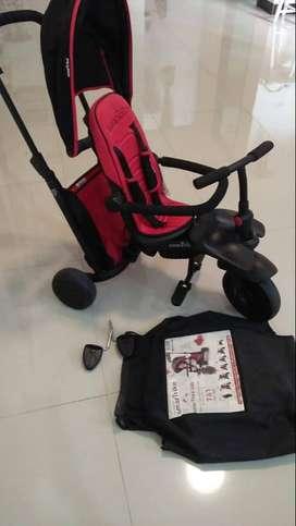 Preloved Sepeda Smart Trike Original Warna Merah Hitam