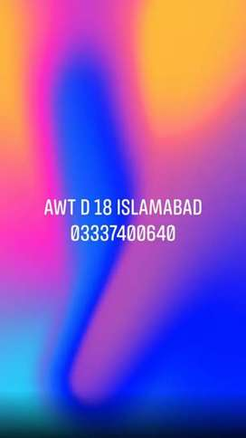 8 Marla commercial plot for sale in awt d 18 Rawalpindi