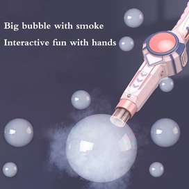 Smoke Bubble Machine Elastic Bubble Wand Blowing Children Toys