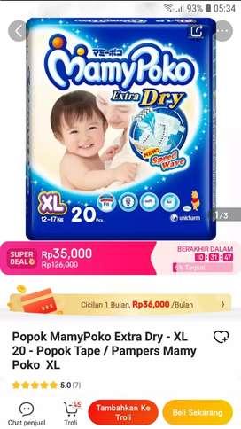 MamiPoko Extra Dry XL-20PCS MURAH CUMA 25RIBU