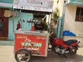 E rikshaw soda fountain machine