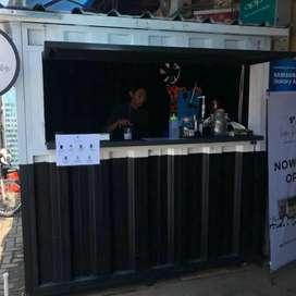 cuma hari ini aja,CICILAN 6bln franchise ES KOPI container booth