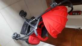 Stroller BabyElle warna merah kondisi bagus