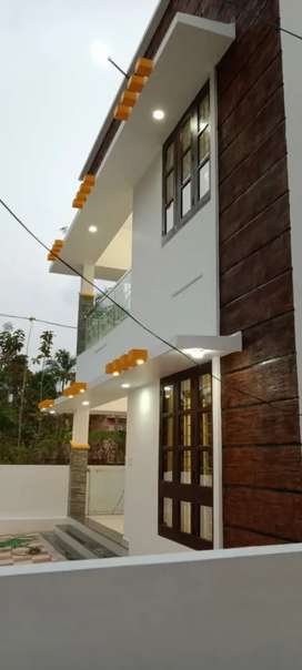 House at vellayani ready to occupy with road frontage