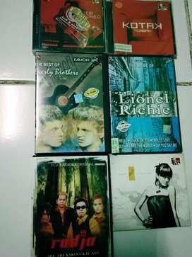 Dvd.Vcd.Cd 6 pcs Lagu Indonesia dan Barat. Campur2. Original