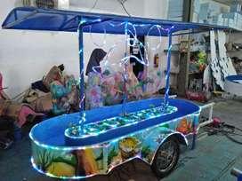 pancingan air fiber ikan wahana pasar malam odong 11