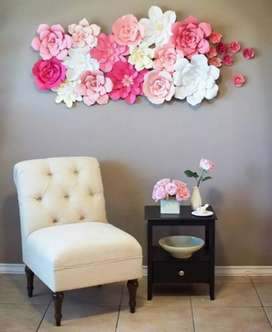 Wall hanging flower