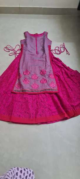 Indo western pink chudi