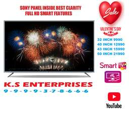 32 inches  SMART LED TV, FULL HD IN 9999/- ONLY.