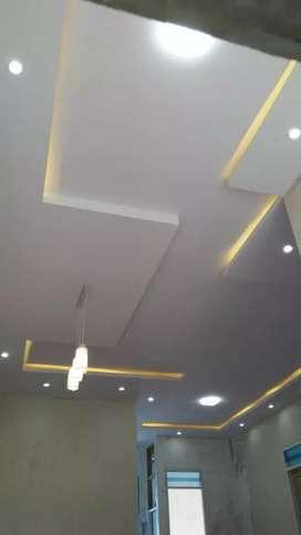 Pemasangan Plafond Gypsum & PVC