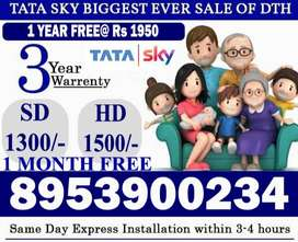 Tata Sky DTH Sale New TataSky SD HD Box Airtel Dish TV