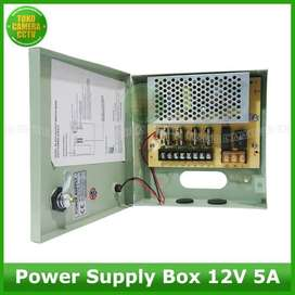 POWER SUUPLY BOX 5A UNTUK CCTV MURAH