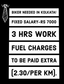 3 hrs work Delivery Biker Needed on Urgent