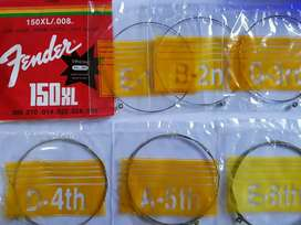 Senar Gitar Fender 0.08XL string 6 senar (perlusin-12set)
