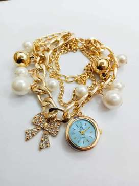 Pearl bracelet watches available