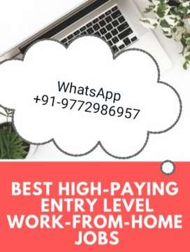 Home based mobile and typing work with daily payment whatsup now