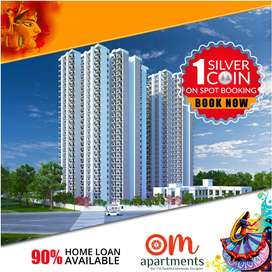 Om Apartments - 2BHK Flats - Silver Coin on Booking - Book Now