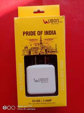 Ubon fast charger 2.4 amp double port .