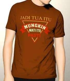 Kaos Premium DTG Dakwah Fashion Muslim Jadi Tua Itu Mungkin