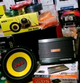 Plus Pasang,Audio ADS, Power + Subwoofer + Tweeter + Box Mdf + Kabel