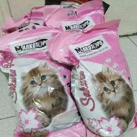 Pasir kucing Gumpal Wangi anti bakteri cat litter 10liter Rp 55k