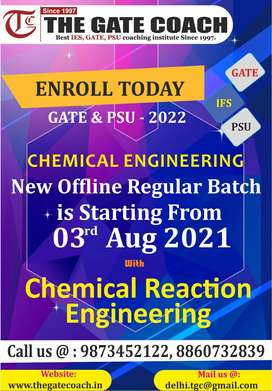 New Regular Batch for GATE 2022 is starting from 3rd August with CRE