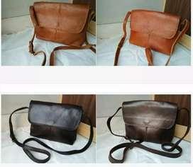 Leather Flap sling bag