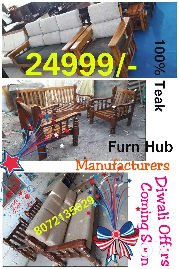 Wooden sofa set teakwood diwali offer sale 0