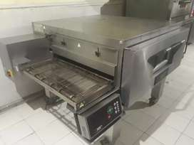 Fast food pizza complete setup sale conveyor pizza oven deck fryer