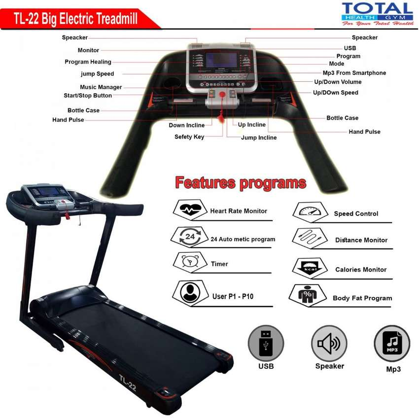 Alat Fitness Murah Tredmill Elektrik 22AC 0