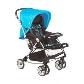MeeMee Premium Baby Pram with Rocker Function (Blue)