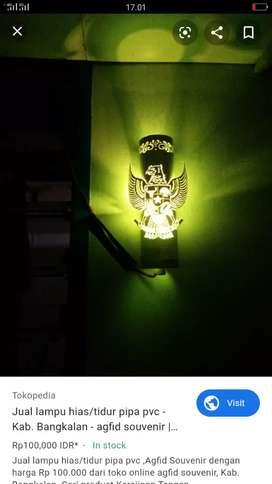 Lampu hias/tidur motif