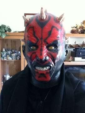 Topeng latex seram setan merah dracula monster valak halloween ID7