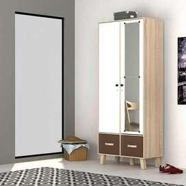Lemari pakaian 2P Mininalis Modern Baru uk. 79 x 50 x 190cm | COD mks