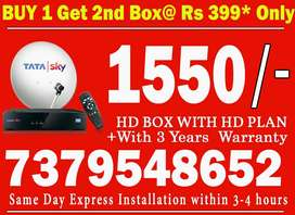 TATA SKY SPECIAL DISCOUNT HD BOX LOWEST PRICES-TATASKY AIRTEL DISH D2H