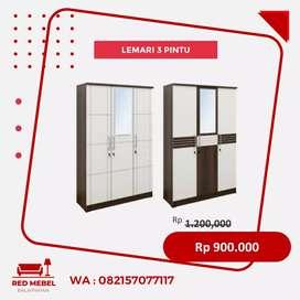 Lemari 3 pintu minimalis