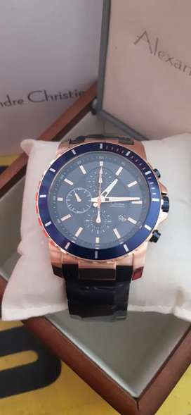 JAM TANGAN ALEXANDRE CHRISTIE PRIA ORIGINAL 6141 BLUE