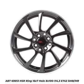 model velg terbaru ABT 69013 HSR R16X7 H8X100-114,3 ET42 SMB/MR