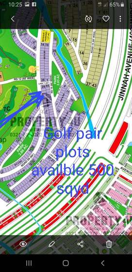 500 Square Yards Paired Plot For Sale near Jinnah